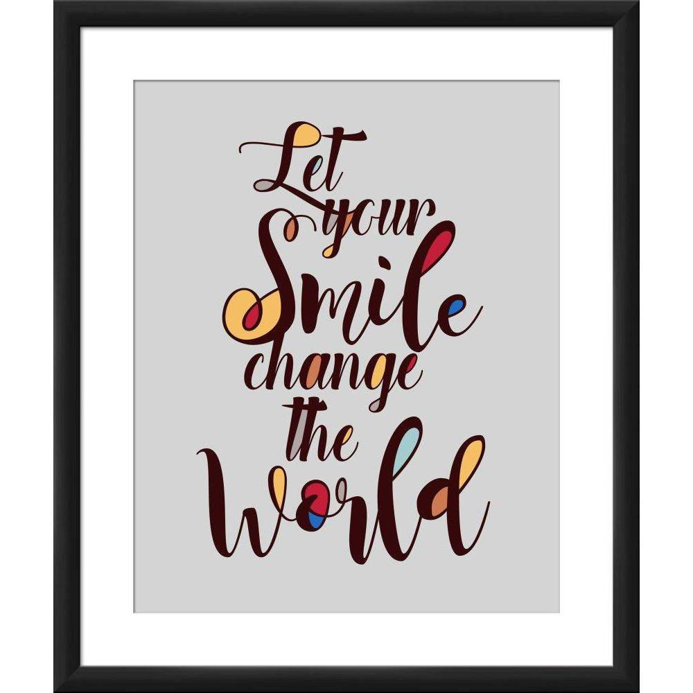 "Image of ""18"""" x 22"""" """"Let Your Smile Change the World"""" Wall Art - PTM Images"""