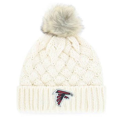 NFL Women's Cream Bowline Faux Fur Knit Hat - image 1 of 2