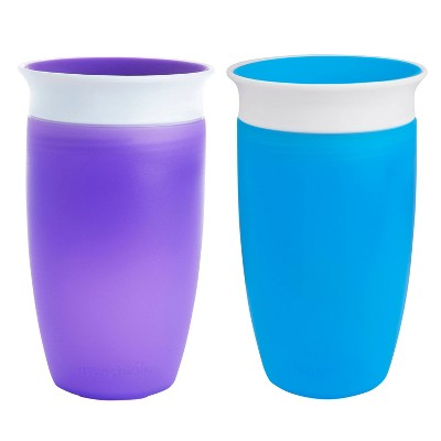Munchkin Miracle 360 Sippy Cup Portable Drinkware - Blue/Purple 10oz 2ct