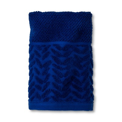 Embossed Woven Border Hand Towel Dancing Blue - Project 62™
