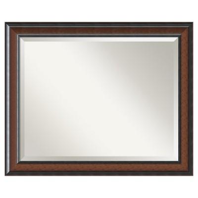 """33"""" x 27"""" Cyprus Walnut Framed Wall Mirror - Amanti Art"""