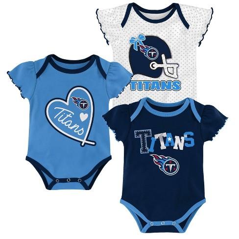 low priced 802b5 b014c NFL Tennessee Titans Baby Girls' Newest Fan 3pk Bodysuit Set - 12M
