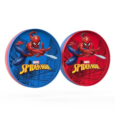 "Spider-Man 9"" 2pk Plastic Flip-It-Plate Set - Zak Designs"