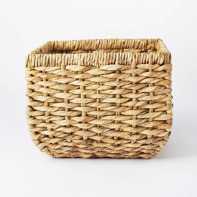 """13"""" x 11"""" Chunky Cube Woven Basket Natural - Threshold™ designed with Studio McGee"""