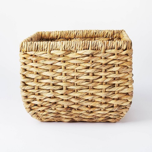 """13"""" x 11"""" Chunky Cube Woven Basket Natural - Threshold™ designed with Studio McGee - image 1 of 4"""