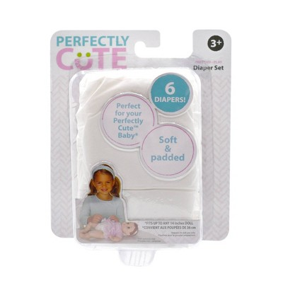 Perfectly Cute Baby Doll Diaper 6pc Set