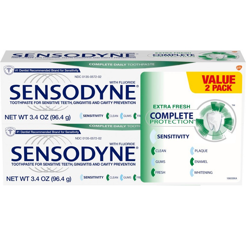 Sensodyne Complete Protection - 2ct/3.4oz