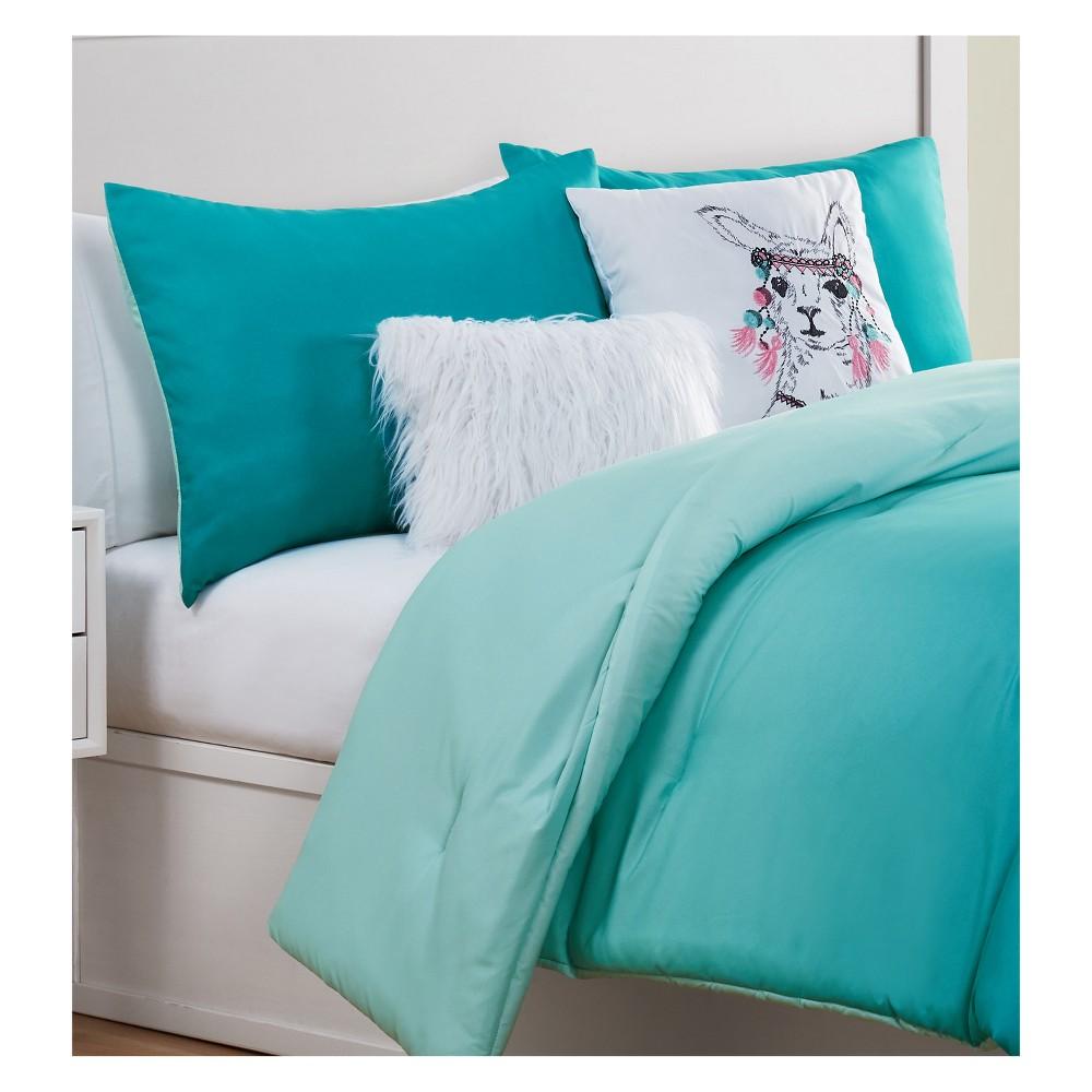 Sunset Dreams Aqua Comforter (Full) - 5pc - Vcny Home, Blue Green