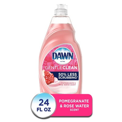 Dawn Ultra Gentle Clean Dishwashing Liquid Dish Soap, Pomegranate & Rose Water Scent - 24 fl oz