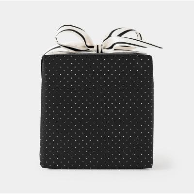 Cream and Black Pindot Gift Wrap - Sugar Paper™
