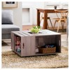 Roseline Modern Crate Box Inspired Coffee Table - Furniture of America - image 4 of 4