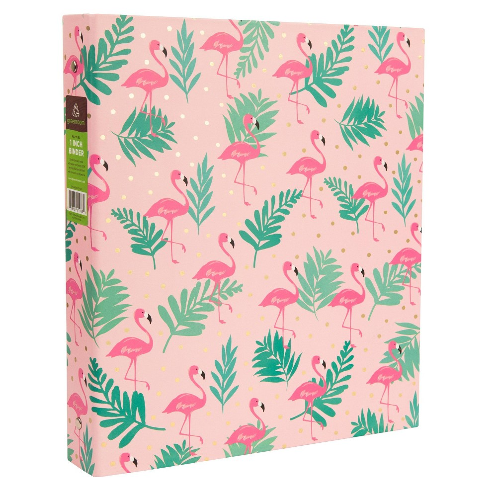 "Image of ""175 Sheet 1"""" Ring Binder Flamingos Pink - Greenroom"""
