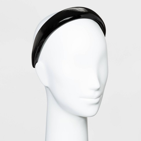 Puffy Plastic Headband with Solid Faux Leather Cover - Wild Fable™ Black - image 1 of 1