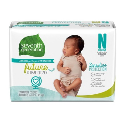 Seventh Generation Sensitive Protection Baby Diapers Size Newborn - 31ct