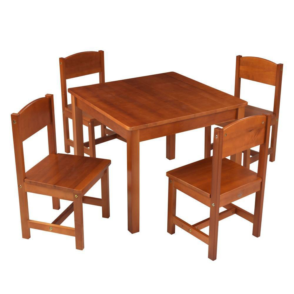 Image of Farmhouse Table and Chair Set Caramel Brown - KidKraft