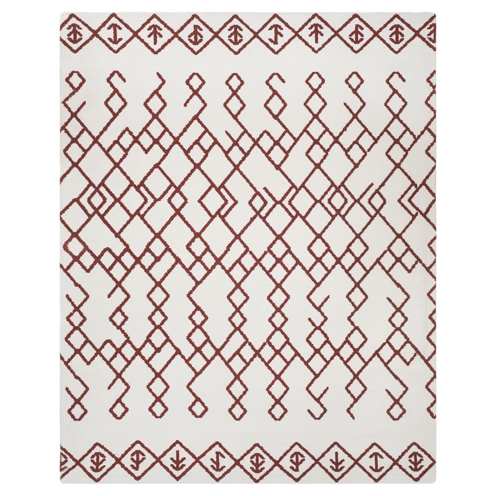 Ivory Rust Geometric Loomed Area Rug 6 X9 Safavieh