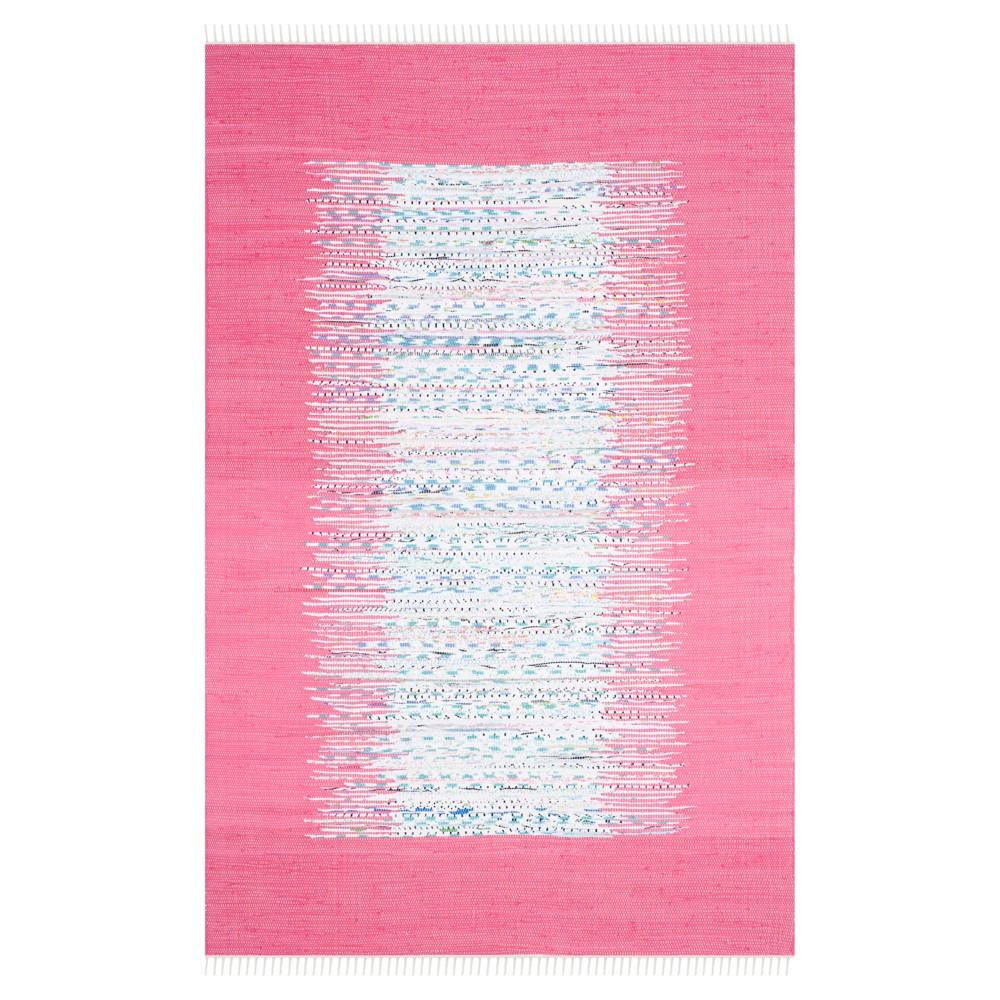 Bettina Flatweave Area Rug - Ivory / Pink (6' X 9') - Safavieh