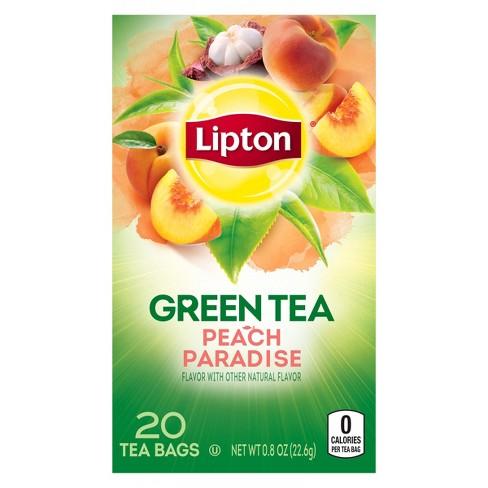 Lipton White Mangosteen Peach Green Tea Superfruit - 20ct - image 1 of 4