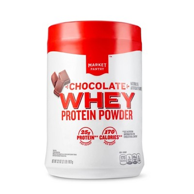 Whey Protein Powder - Chocolate - 32oz - Market Pantry™