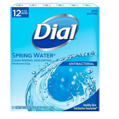 Dial Antibacterial Deodorant Spring Water Bar Soap - 12pk - 4oz each
