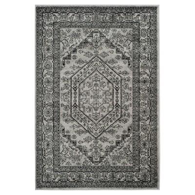Aldwin Area Rug - Silver/Black (6'x9')- Safavieh®