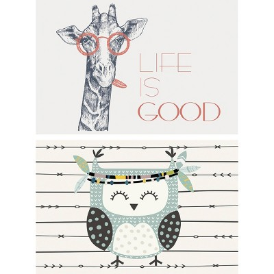 Giraffe and Owl Placemat Set of 2 - A & A Story
