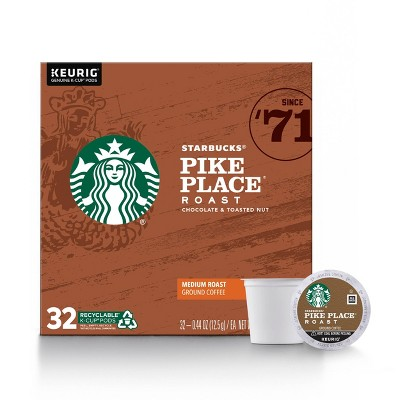 Starbucks Pike Place Medium Roast Coffee - Keurig K-Cup Pods - 32ct