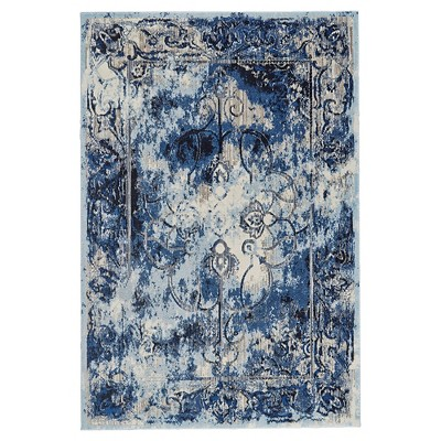 Thundercloud Abstract Loomed Area Rug - (5'3 X7'6 )- Room Envy
