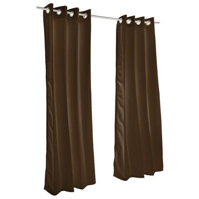 Pawleys Island Sunbrella Outdoor Gazebo Grommeted Solid Curtain Panel