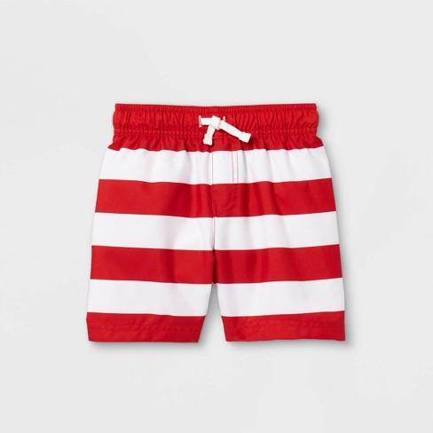 Toddler Boys' Striped Swim Trunks - Cat & Jack™ - image 1 of 1