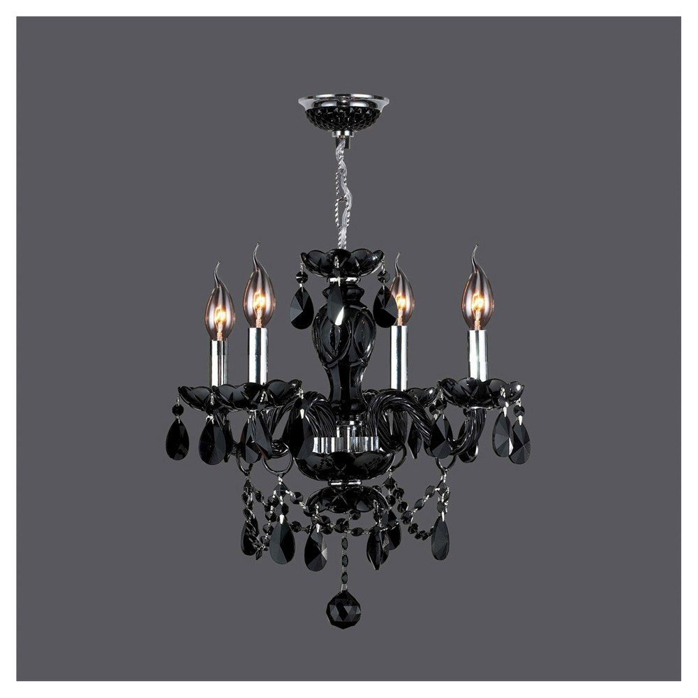 World Wide Lighting Ceiling Light - Black/Silver (16 X 21 X 10)