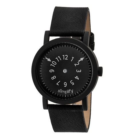 Simplify The 2300 Men's Suede - Overlaid Leather Strap Watch - image 1 of 3
