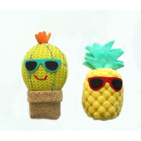 Cat Toy Set - Cactus & Pineapple - Boots & Barkley™ - image 1 of 1