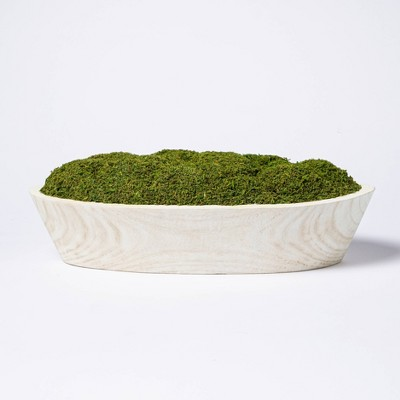 "5"" x 7"" Artificial Moss Wood Plant Arrangement - Threshold™ designed with Studio McGee"