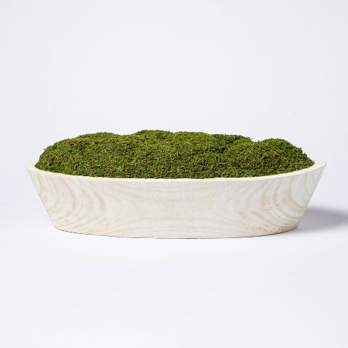 """5"""" x 7"""" Artificial Moss Wood Plant Arrangement - Threshold™ designed with Studio McGee - image 1 of 4"""