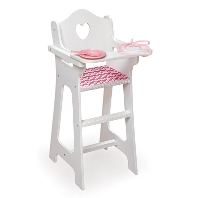 Badger Basket Doll High Chair with Accessories and Free Personalization Kit