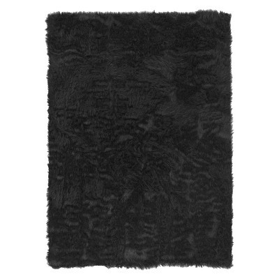Faux Sheepskin Accent Rug - Brown (3'x5')