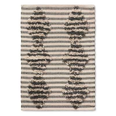 Accent Rug Gray Tufted Diamond (2'x3')- Nate Berkus™