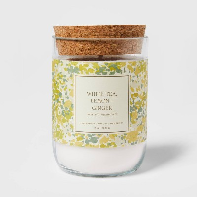 14oz Glass White Tea and Ginger Candle - Threshold™