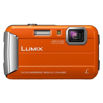 Panasonic Lumix TS25 16MP Waterproof Digital Camera with 4x Optical Zoom - Orange