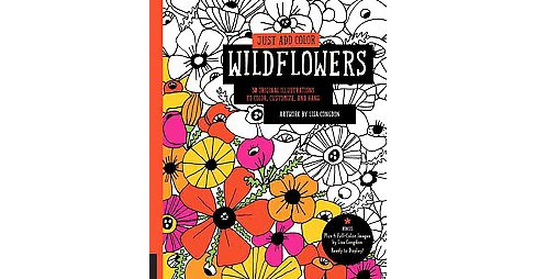 Wildflowers : 30 Original Illustrations to Color, Customize, and Hang - Bonus Plus 4 Full-Color Images - image 1 of 1