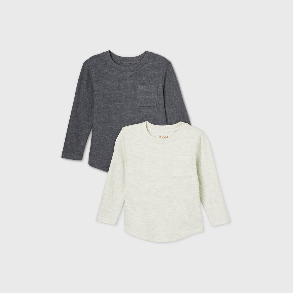 Toddler Boys 39 2pk Ottoman Knit T Shirt Cat 38 Jack 8482 Cream 18m
