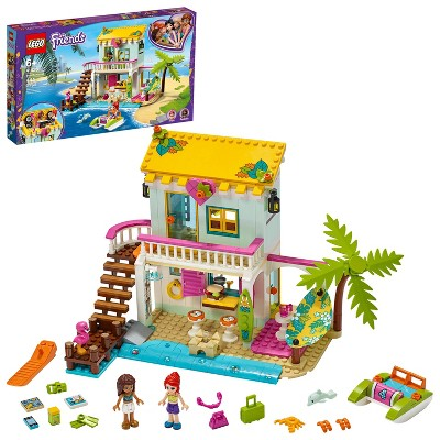 LEGO Friends Beach House Comes with Andrea and Mia Mini-Dolls and a Cool Summer House 41428