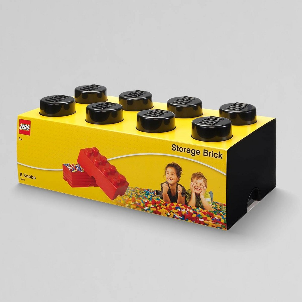 Image of Lego Storage Brick 8 Black