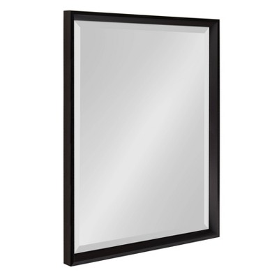 "20"" x 26"" Calter Framed Wall Mirror Black - Kate and Laurel"