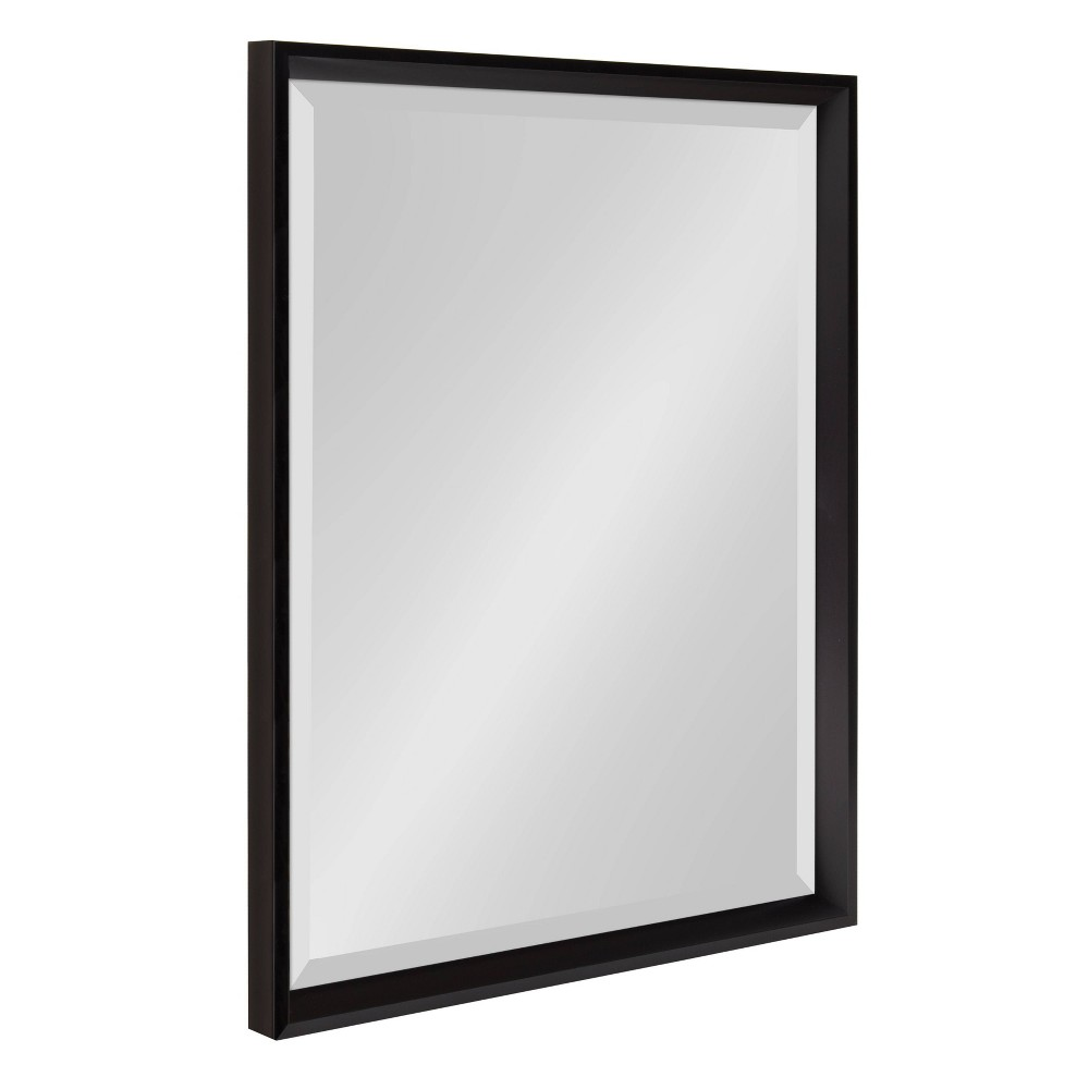 """Image of """"19.5""""""""x25.5"""""""" Calter Framed Wall Mirror Black - Kate and Laurel"""""""