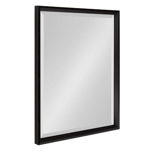 """19.5""""x25.5"""" Calter Framed Wall Mirror Black - Kate and Laurel - image 1 of 4"""