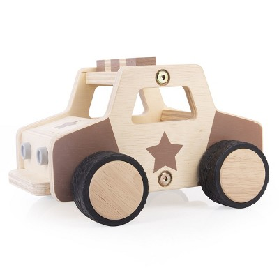 Guidecraft Wooden Police Car