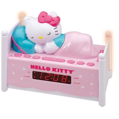 Hello Kitty Sleeping Kitty Dual Alarm Clock Radio with Night Light - Pink (KT2052P)
