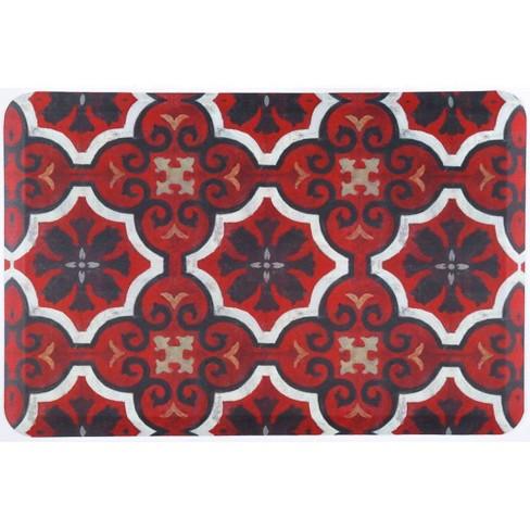 Home Dynamix 24 X 36 Marrakesh Kitchen Mat Red Black Target